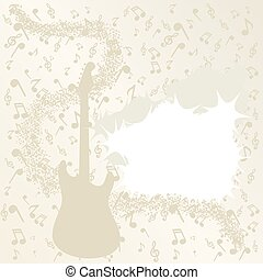 background music with notes, vector illustration