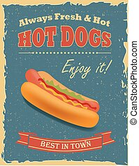 Vintage Hot Dogs poster