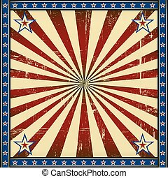 Retro square patriotic background