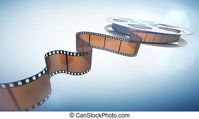 Cinema background - Cinema film reel.Seamlessly loopable...