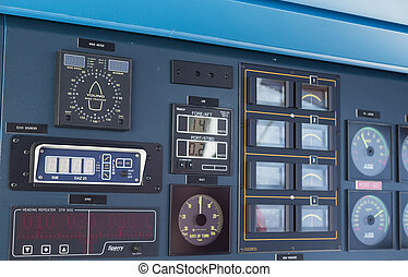 Dials and Gauges on Ship Bridge - Electronics and controls...