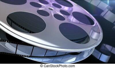 Film Reel - Spinning film reel