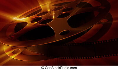 Film reel - Rotating film reel with impressing light