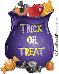 Halloween Candy - Illustration of different halloween candy...