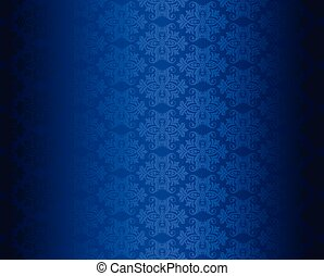 Luxury seamless blue floral wallpaper