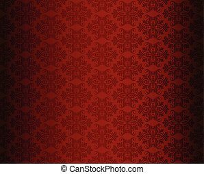 Luxury seamless red floral wallpaper
