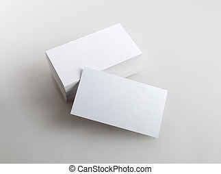 Blank business cards - Photo of business cards. Template for...