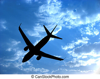 Airplane Silhouette - A background with a view of an...