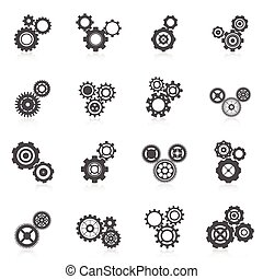Cog Wheel Icon - Cog wheel gear mechanic and engineering...