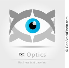Optics business icon for creative design work