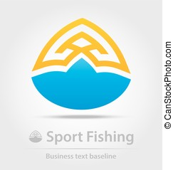 Sport fishing business icon