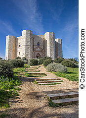 Steps leading to the Castel Del Monte