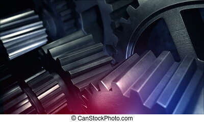 Rotating gears - A rotating gears in gearbox or any other...