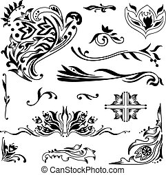 Islamic vignettes - Set of elegant vector ornaments with...