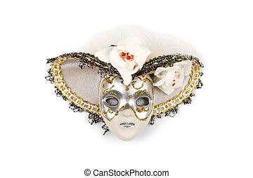 Ornate mask with hat