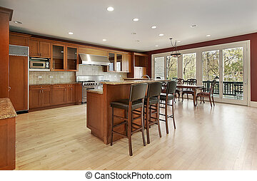 Kitchen in new construction home