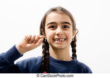 The fall of the first baby teeth
