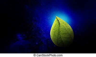 leaves opens Earth