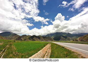 landscape in tibet,china