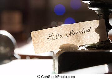 Feliz Navidad. Christmas card. - Feliz Navidad - Merry...