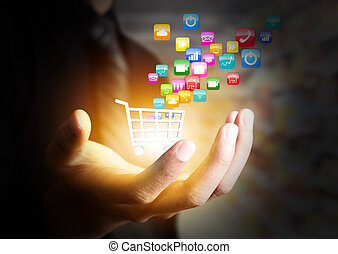 Application and the shopping cart - Colorful application...