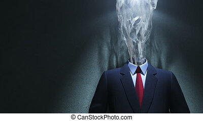 Spirit of creativity - Smoke and suit in spot of light