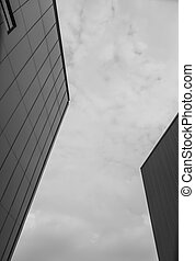 Black and white of Modern building