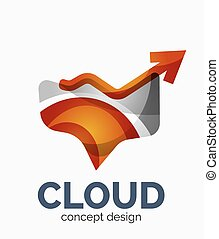 Modern cloud logo - Modern cloud company logo design, made...