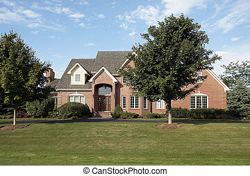 Luxury suburban brick home
