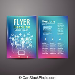 Abstract Brochure Flyer design with the theme of social...