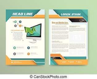 Abstract Vector Brochure Template Flyer Layout Flat Style...