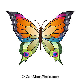 Colorful vector butterfly - Bright butterfly for decoration...