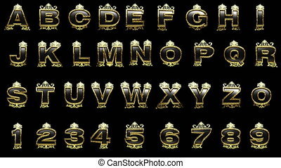 loop alpha matted golden alphabet