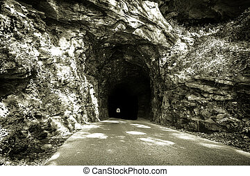 The Nada Tunnel - The nine hundred foot Nada Tunnel located...