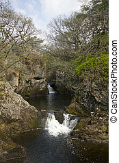 Waterfall in the Yorkshire dales - The Idyllic Waterfalls of...