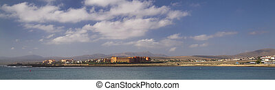 Fuerteventura Canary Islands spain beautiful Panoramic view...