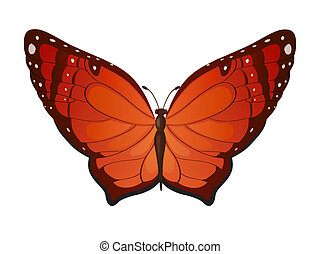 Vector red butterflies - Bright butterfly for decoration...