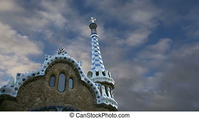 Gaudis Parc Guell in Barcelona, Spain