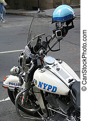 moter cycle New York Police department and helmet