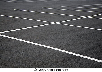 Parking lot - empty parking lot spaces