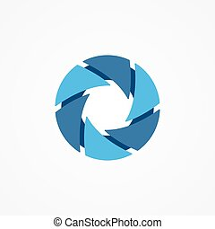 Logo of serrations arranged in a circle Brutal logo - Vector...
