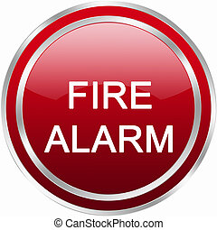 fire alarm button - red circle fire alarm button