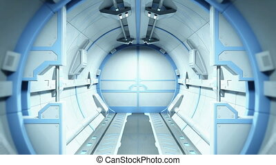 Sci-Fi Tunnel - Camera pass through fantastic tunnel and...