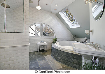 Luxury bath room with granite floors - Luxury bath room with...