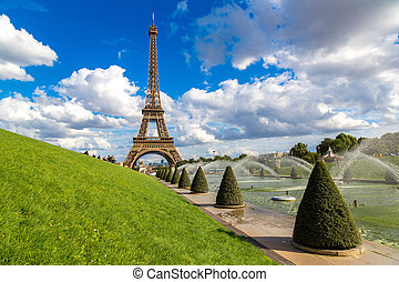 Eiffel Tower in Paris - Eiffel Tower most visited monument...