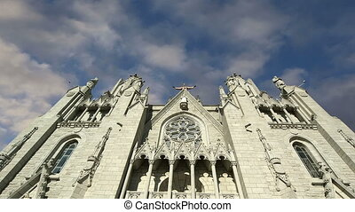 Tibidabo church, Barcelona, Spain - Tibidabo church...