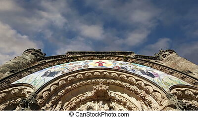 Tibidabo church, Barcelona, Spain - Tibidabo church temple,...