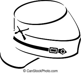 american civil war kepi - American civil war kepi. sketch....