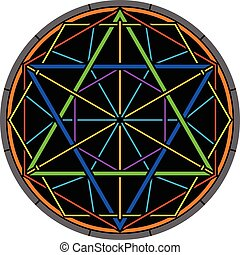 color magic hexagram