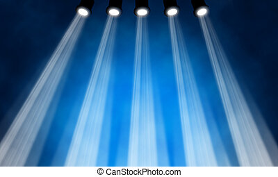 illustration of bright stage spotlight